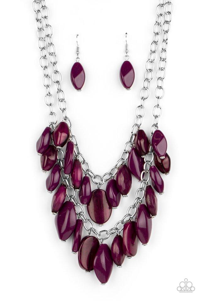 Palm Beach Beauty - Purple - Paparazzi Necklace Image
