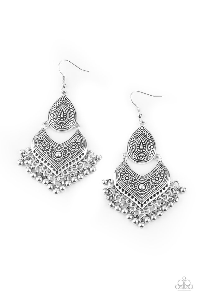 Music To My Ears - Silver - Paparazzi Earring Image