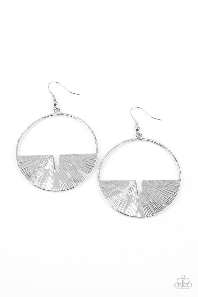 Reimagined Refinement - Silver - Paparazzi Earring Image