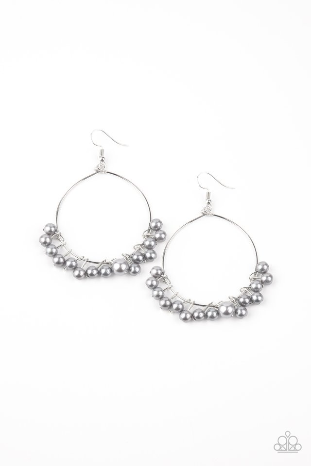 Things Are Looking UPSCALE - Silver - Paparazzi Earring Image