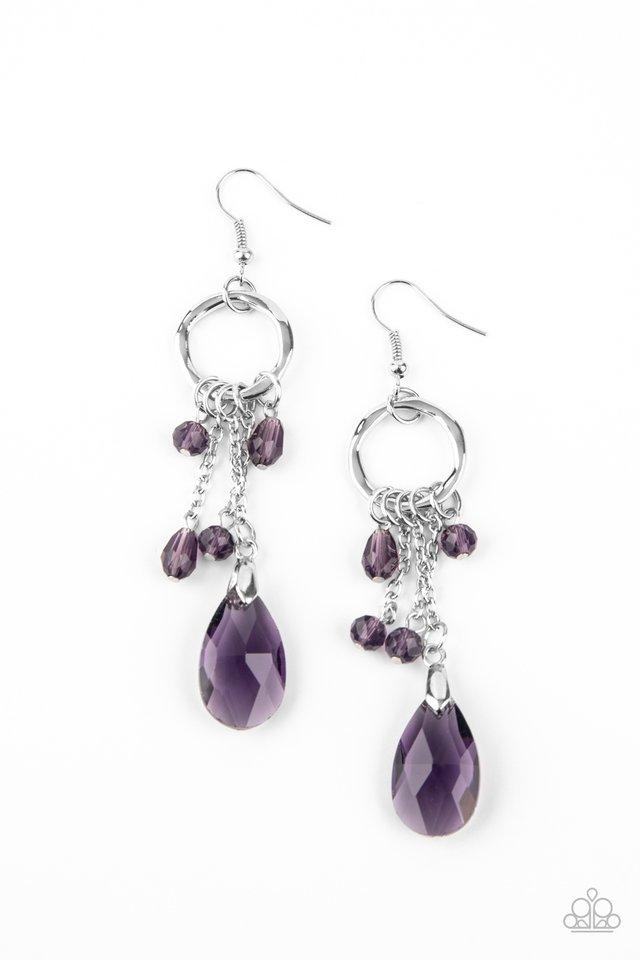 Glammed Up Goddess - Purple - Paparazzi Earring Image
