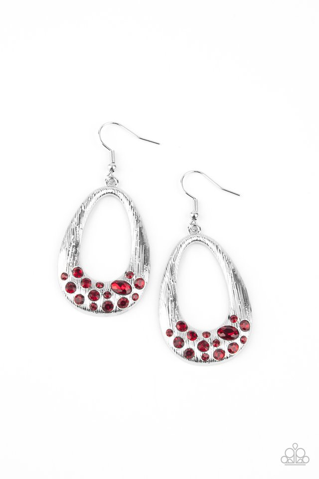 Better LUXE Next Time - Red - Paparazzi Earring Image