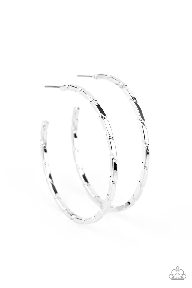 Unregulated - Silver - Paparazzi Earring Image