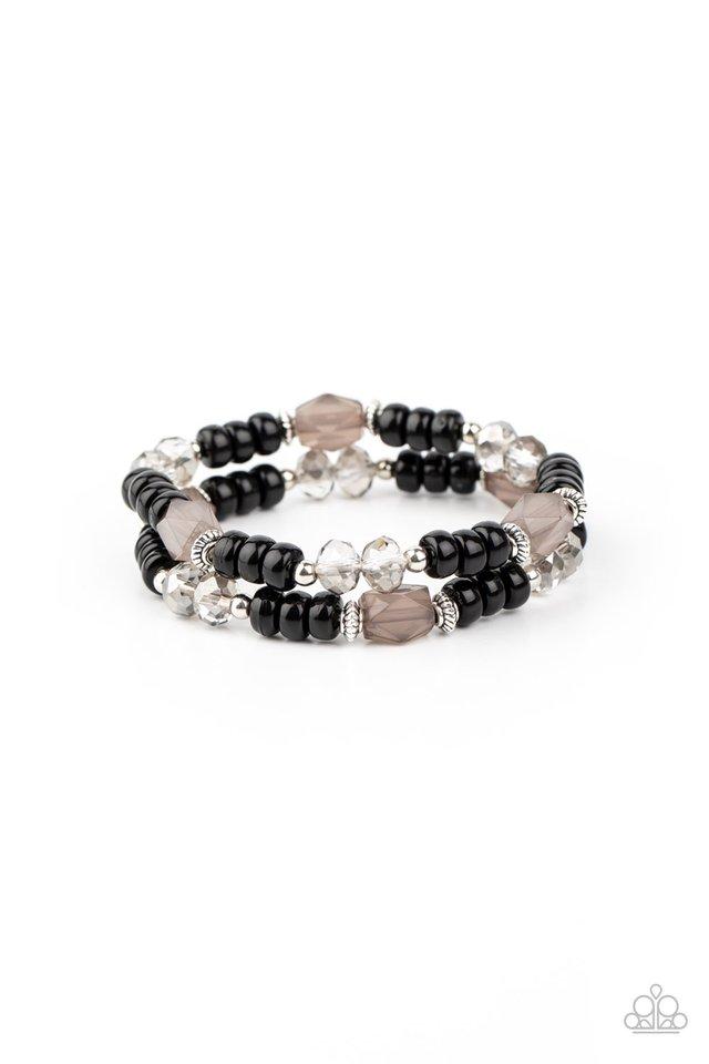 Delightfully Dainty - Black - Paparazzi Bracelet Image