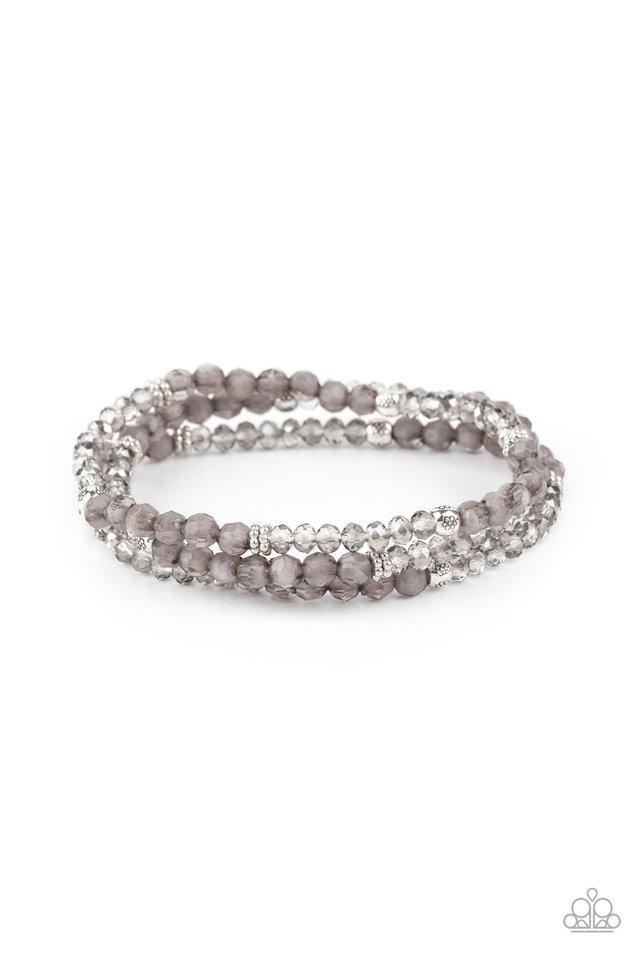 How Does Your Garden GLOW - Silver - Paparazzi Bracelet Image