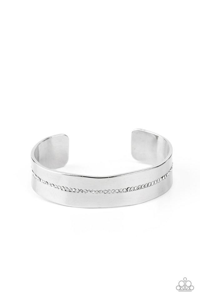 Raw Razzle - White - Paparazzi Bracelet Image