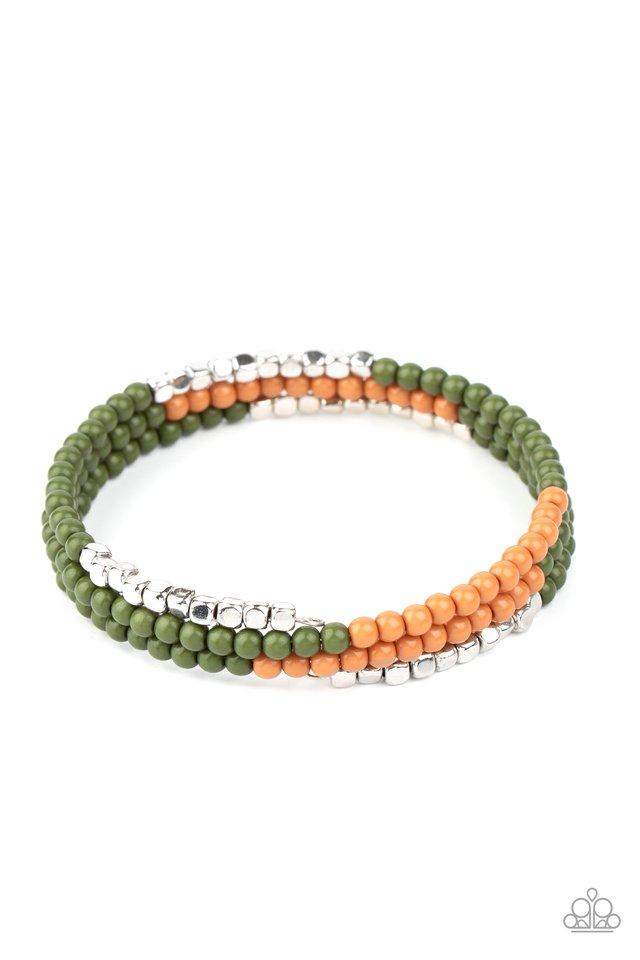 Spiral Dive - Green - Paparazzi Bracelet Image