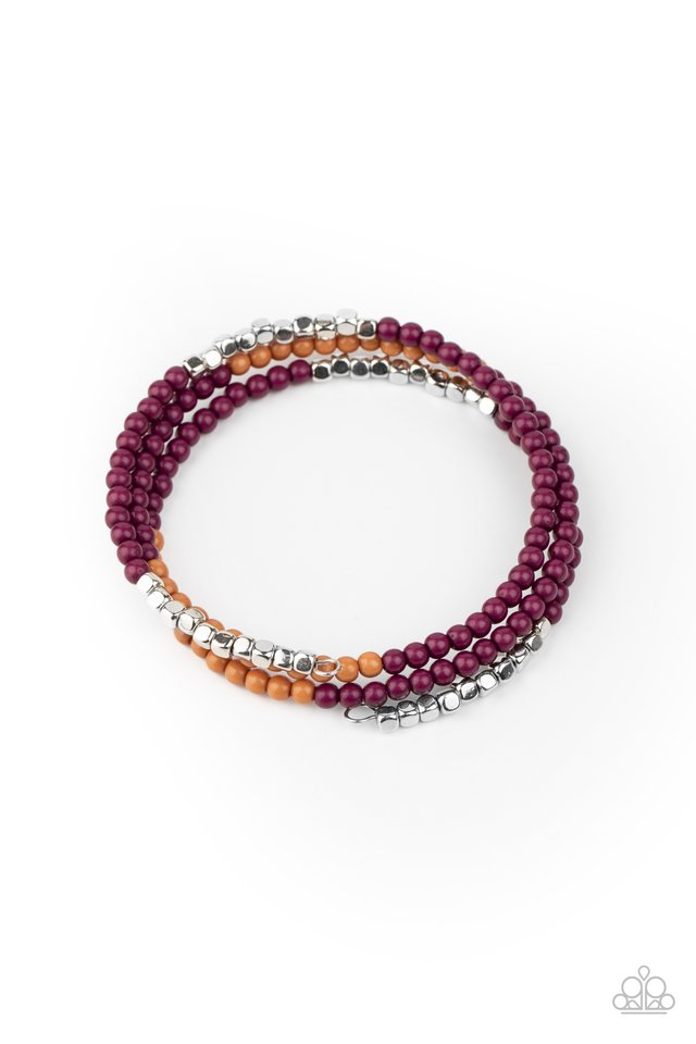 Spiral Dive - Purple - Paparazzi Bracelet Image