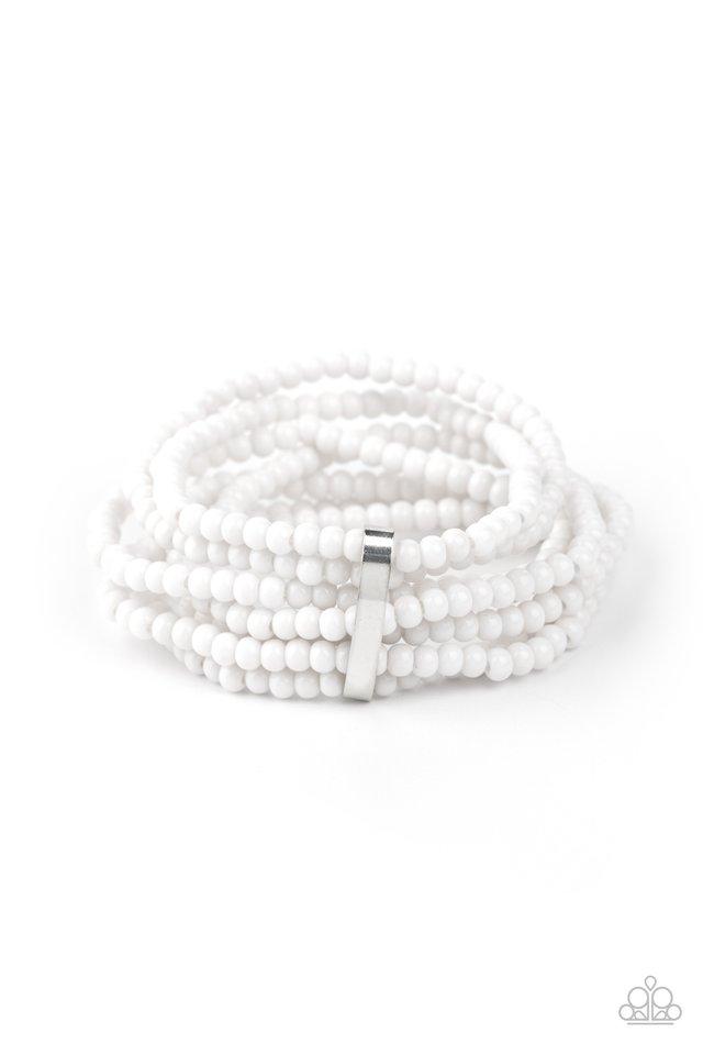 Thank Me LAYER - White - Paparazzi Bracelet Image