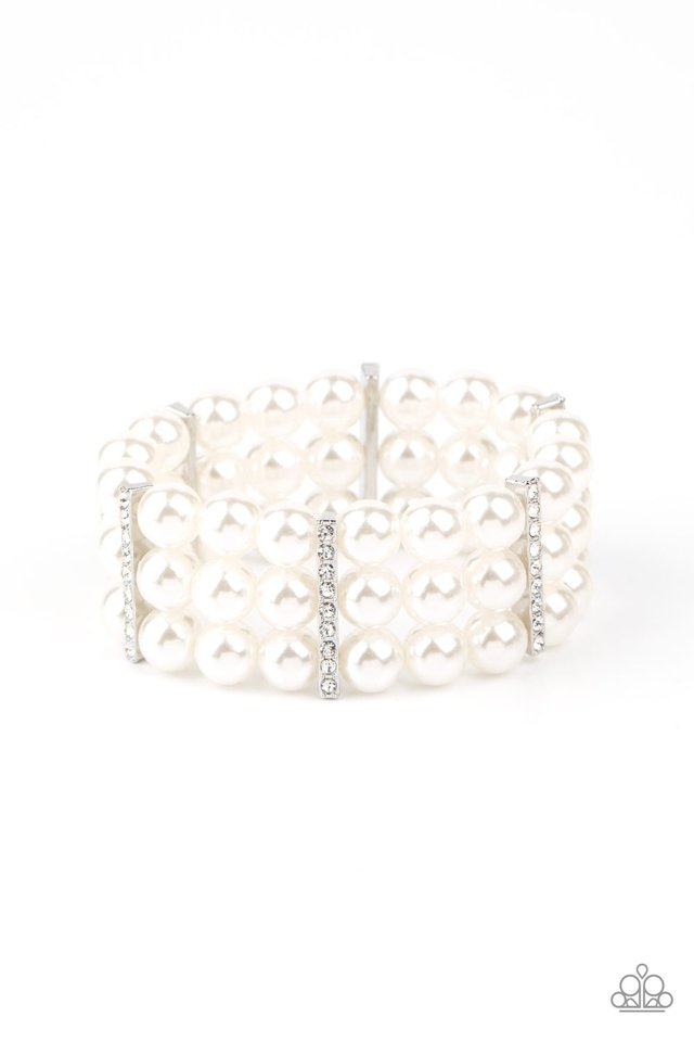 Modern Day Majesty - White - Paparazzi Bracelet Image
