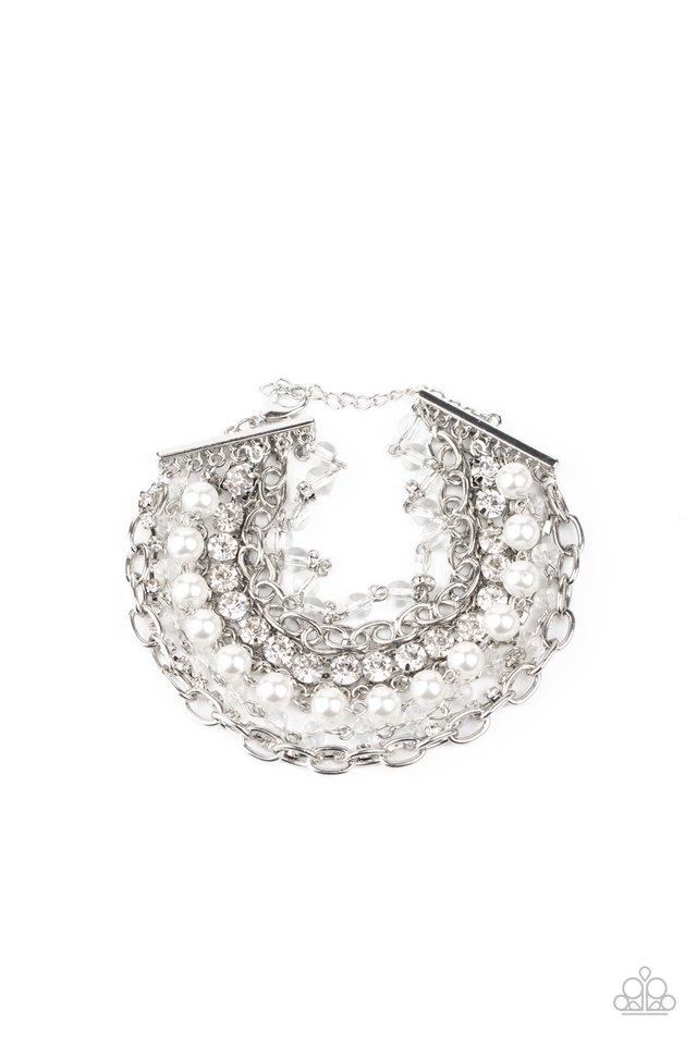 Heiress Hustle - White - Paparazzi Bracelet Image