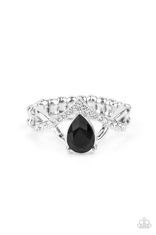 Remarkable Refinement - Black - Paparazzi Ring Image