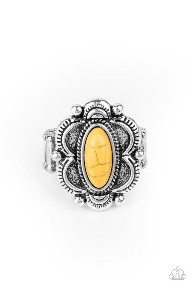 Sage Garden - Yellow - Paparazzi Ring Image