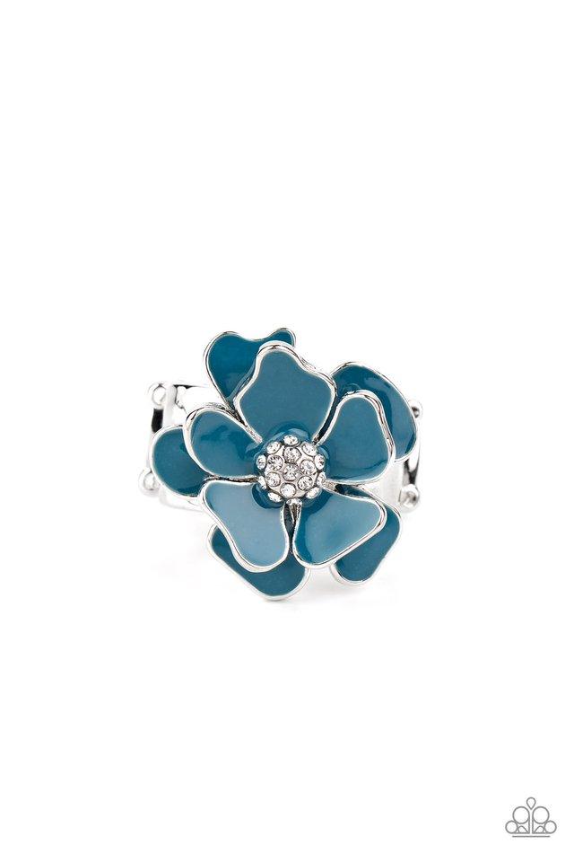 Hibiscus Holiday - Blue - Paparazzi Ring Image