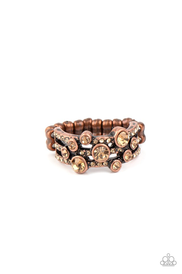 Bubbly Effervescence - Copper - Paparazzi Ring Image