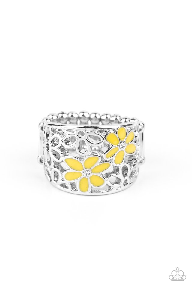 Clear as DAISY - Yellow - Paparazzi Ring Image