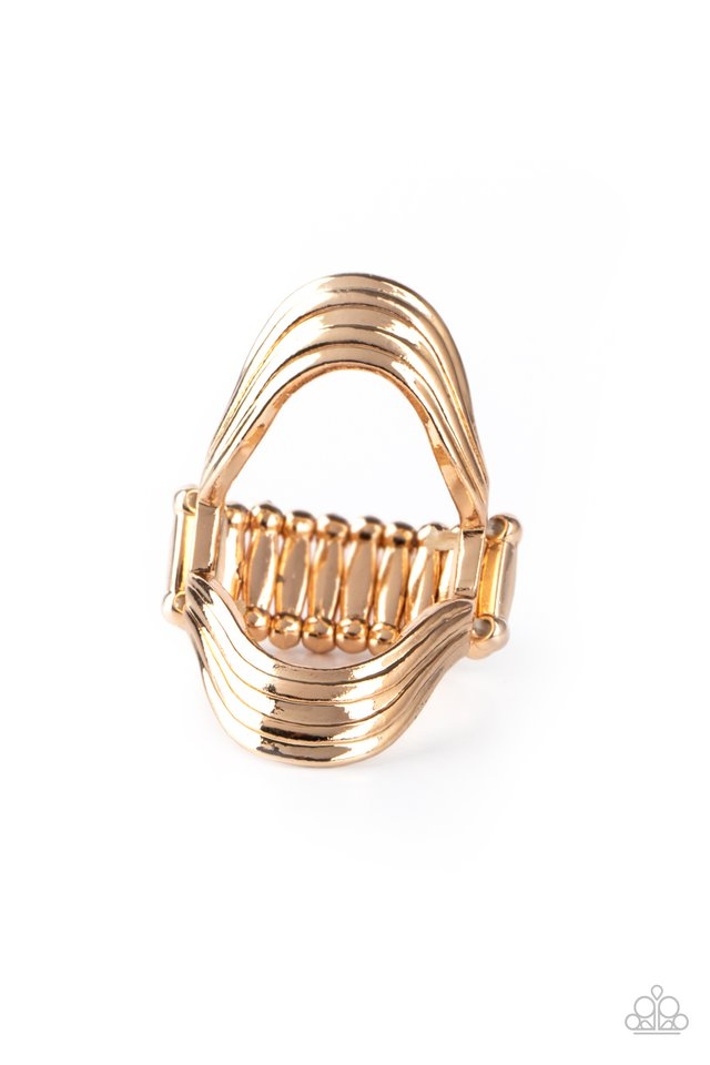Keep An Open Mind - Gold - Paparazzi Ring Image