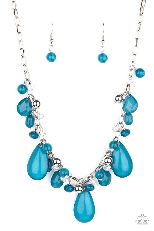 Seaside Solstice - Blue - Paparazzi Necklace Image