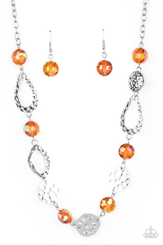 High Fashion Fashionista - Orange - Paparazzi Necklace Image