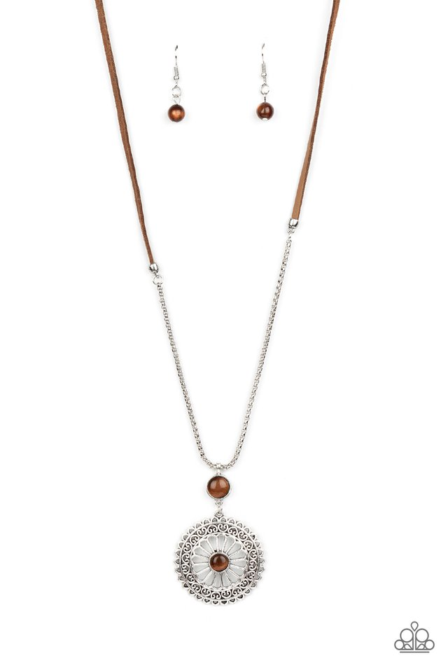 Where No MANDALA Has Gone Before - Brown - Paparazzi Necklace Image