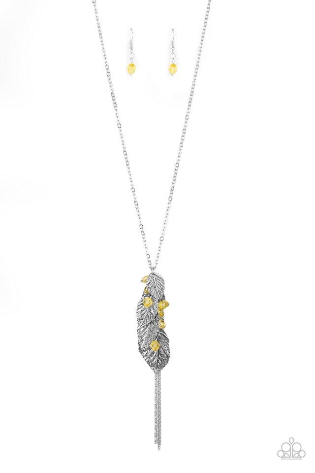 I Be-LEAF - Yellow - Paparazzi Necklace Image