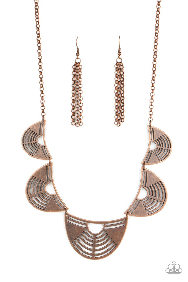 Record-Breaking Radiance - Copper - Paparazzi Necklace Image