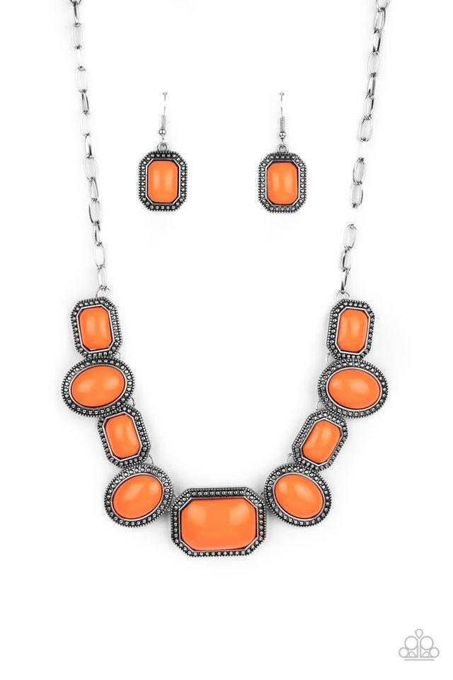 Lets Get Loud - Orange - Paparazzi Necklace Image