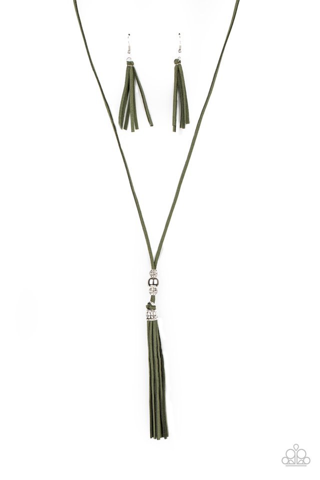 Hold My Tassel - Green - Paparazzi Necklace Image