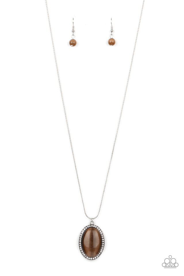 GLISTEN To This - Brown - Paparazzi Necklace Image