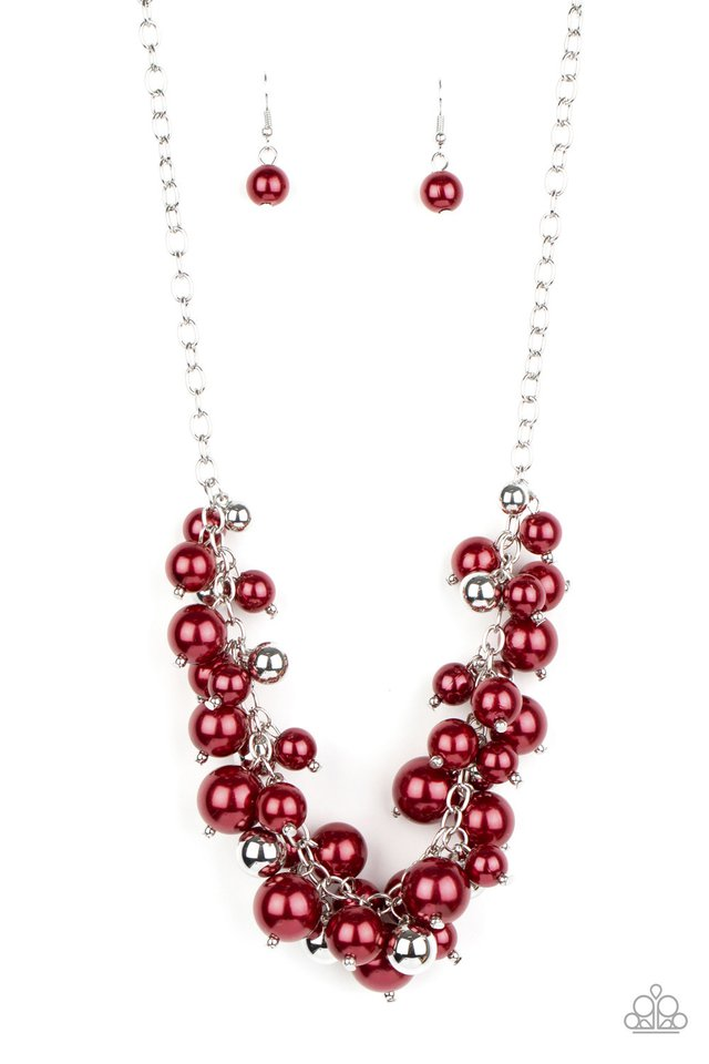 Uptown Upgrade - Red - Paparazzi Necklace Image