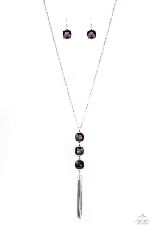 GLOW Me The Money! - Purple - Paparazzi Necklace Image
