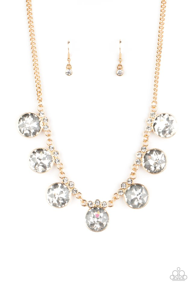 GLOW-Getter Glamour - Gold - Paparazzi Necklace Image