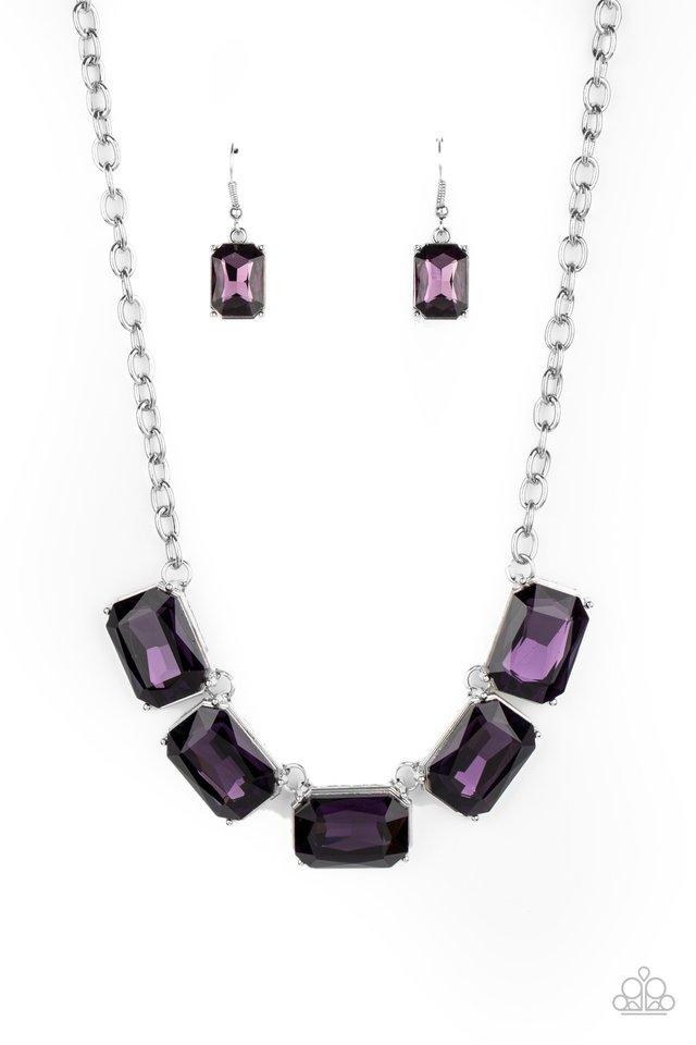 Deep Freeze Diva - Purple - Paparazzi Necklace Image