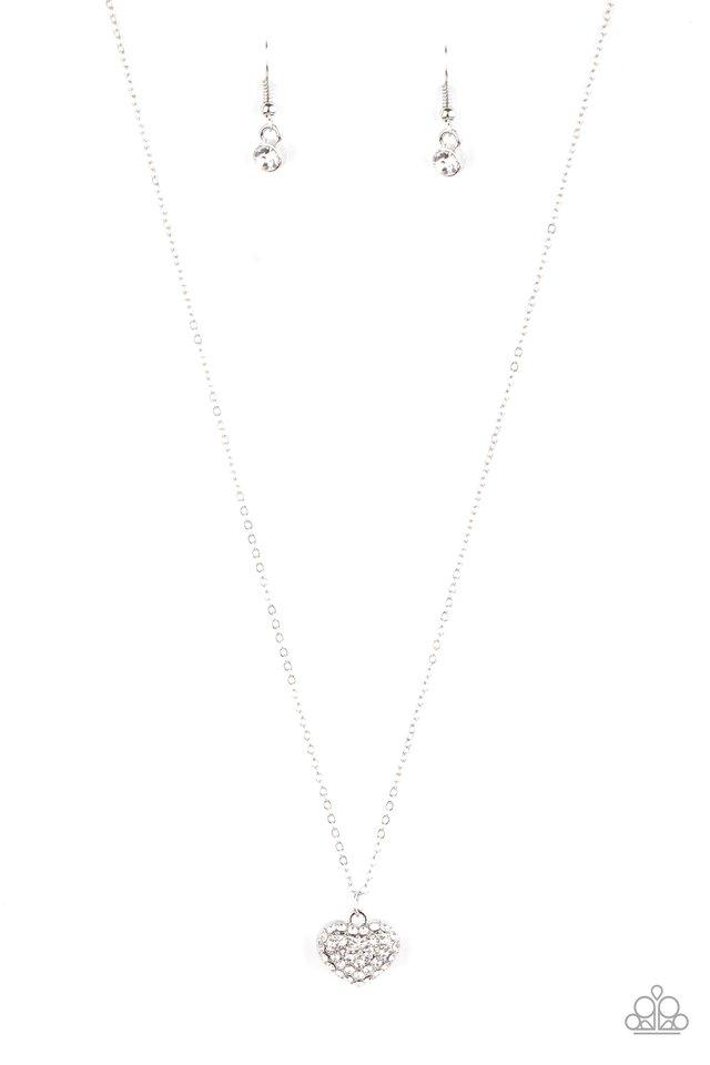 Heart-Warming Glow - White - Paparazzi Necklace Image