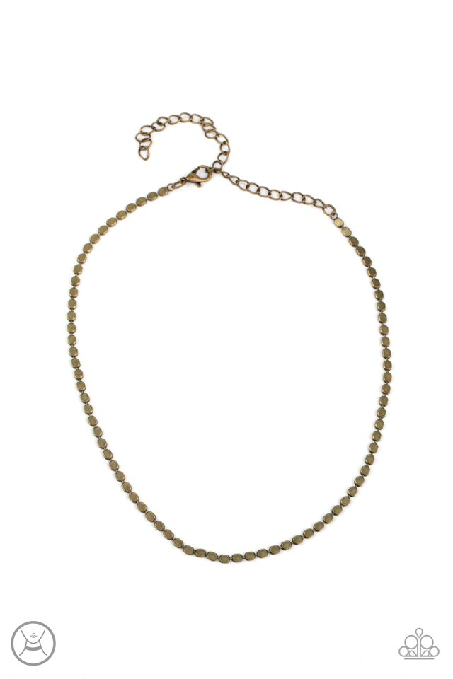 When in CHROME - Brass - Paparazzi Necklace Image