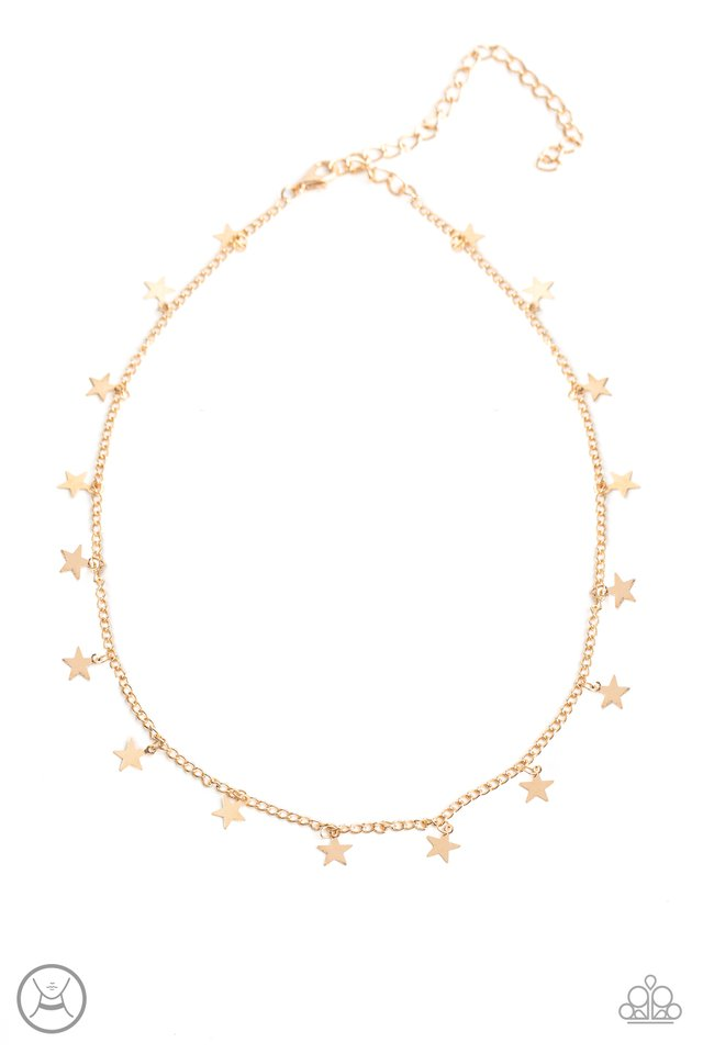 Starry Skies - Gold - Paparazzi Necklace Image