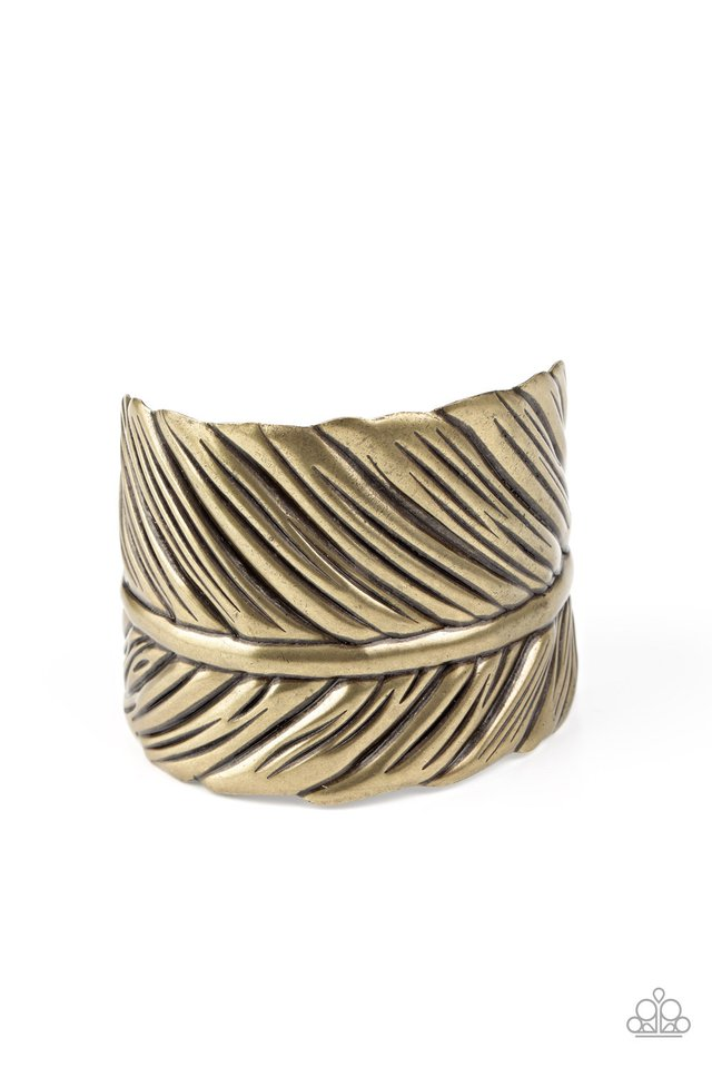 Where Theres a QUILL, Theres a Way - Brass - Paparazzi Bracelet Image