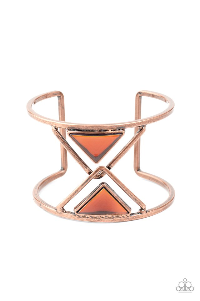 Pyramid Palace - Copper - Paparazzi Bracelet Image