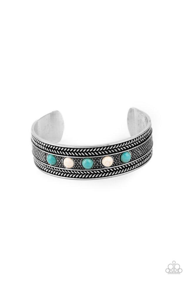 Quarry Quake - Blue - Paparazzi Bracelet Image