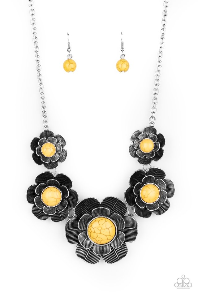 Bountiful Badlands - Yellow - Paparazzi Necklace Image