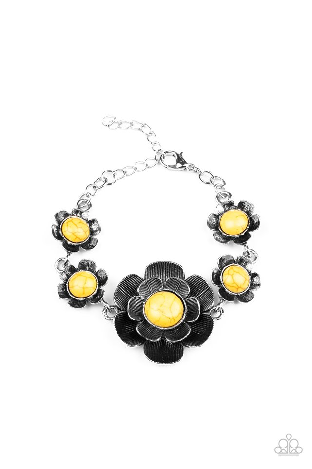 Badlands Blossom - Yellow - Paparazzi Bracelet Image