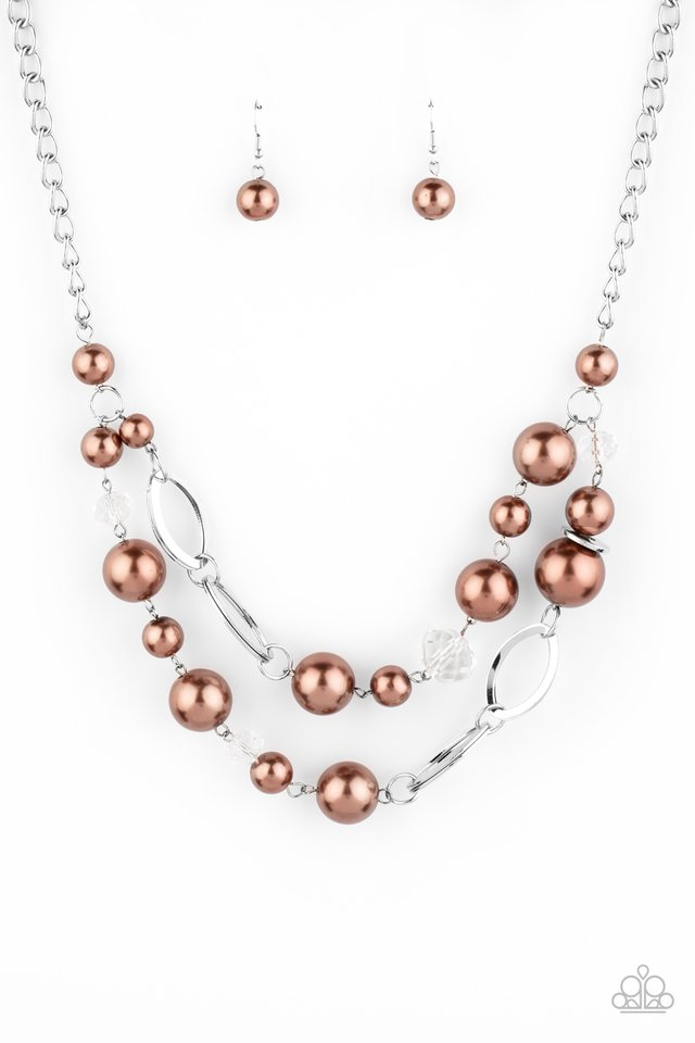 High Roller Status - Brown - Paparazzi Necklace Image