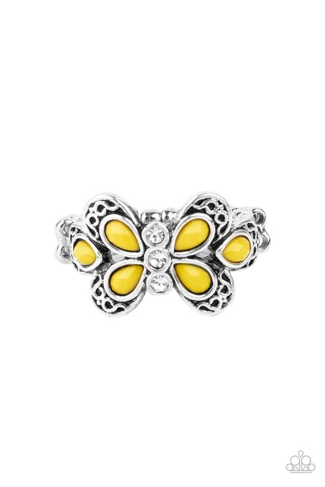 Boho Butterfly - Yellow - Paparazzi Ring Image