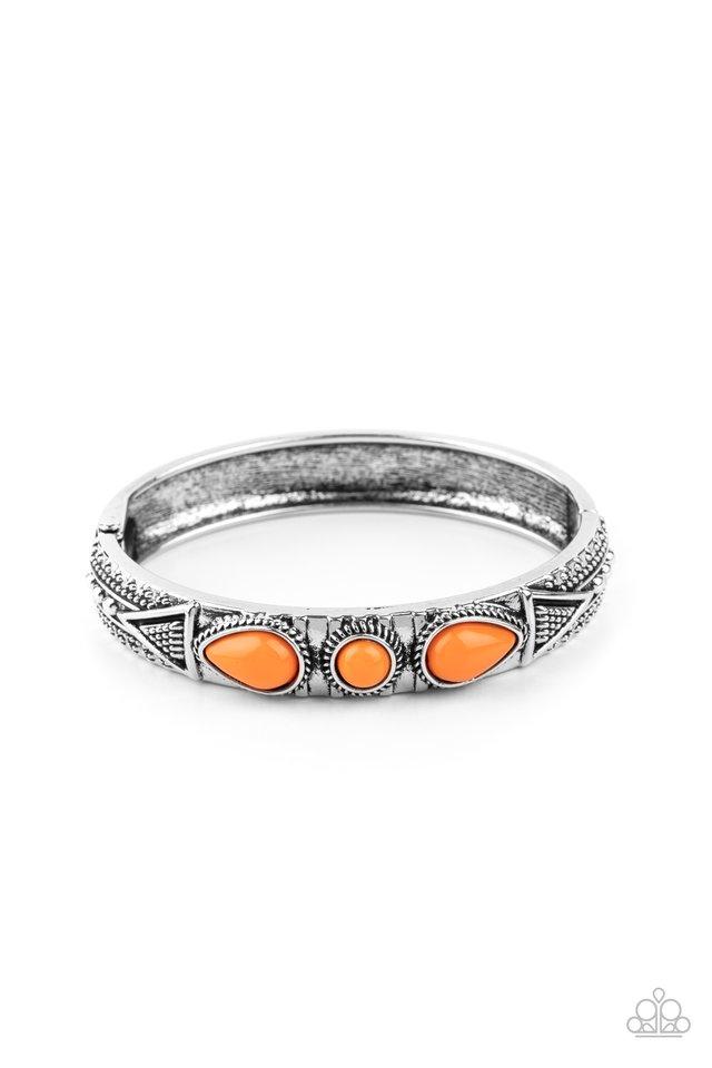 Radiant Ruins - Orange - Paparazzi Bracelet Image