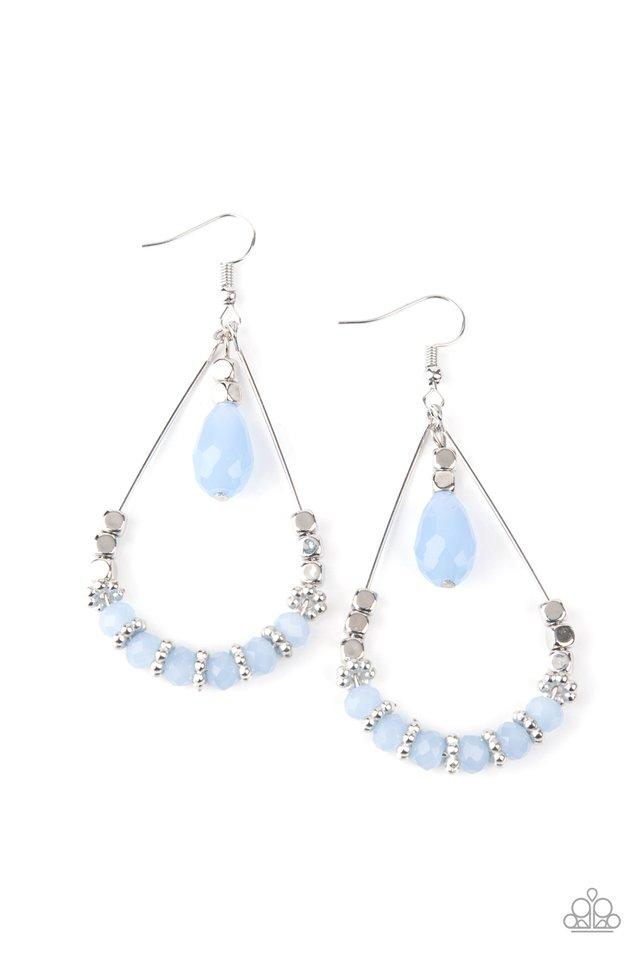 Lovely Lucidity - Blue - Paparazzi Earring Image