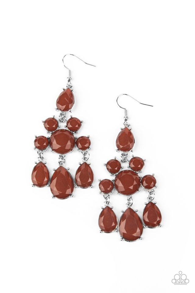Afterglow Glamour - Brown - Paparazzi Earring Image