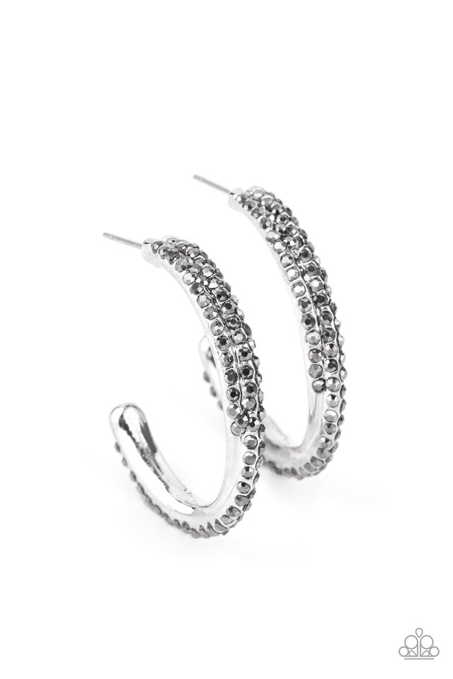 Trail Of Twinkle - Silver - Paparazzi Earring Image
