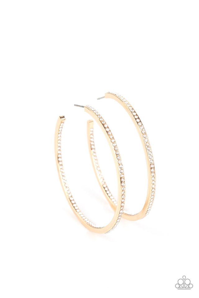 Marquee Magic - Gold - Paparazzi Earring Image