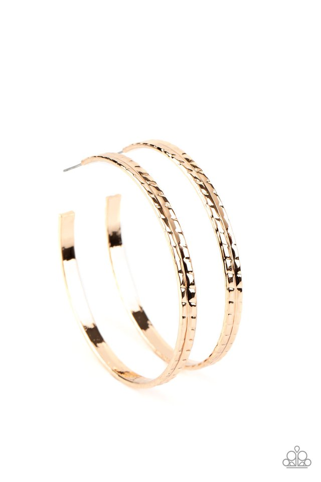 TREAD All About It - Gold - Paparazzi Earring Image