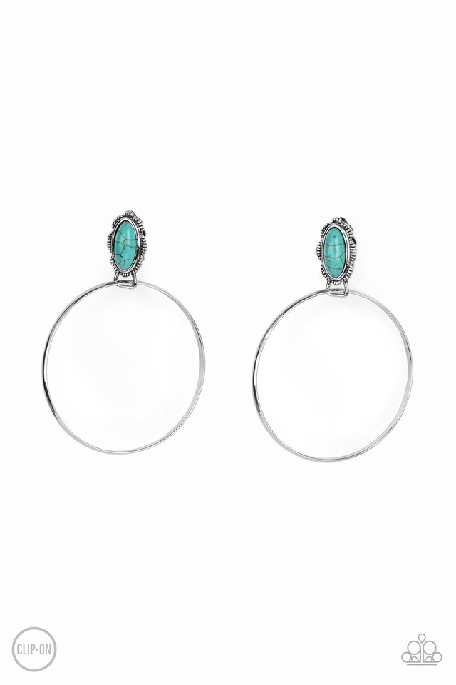 At Long LASSO - Blue - Paparazzi Earring Image